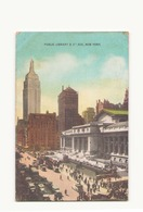 ETATS UNIS PUBLIC LIBRARY & 5 Th AVE. NEW YORK - New York City