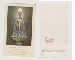 MARTINE CUINOT - ST JUSTIN LE 18 MAI 1968 - MU - N .I. /9 - Images Religieuses