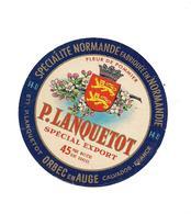 PETITE ETIQUETTE FROMAGE   NORMANDIE  LANQUETOT - Fleur De Pommier ORBEC EN AUGE - (Garnaud) - Cheese