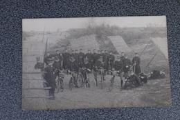 Foto Origineel  Fotokaart Militairen Fiets Bicycle Leopoldsburg 1912 - Guerre 1914-18