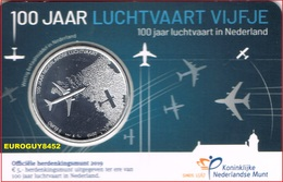 NEDERLAND - COINCARD 5 € 2019 UNC - 100 JAAR LUCHTVAART - Pays-Bas