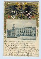 P4U34-4330/ Mülheim Ruhr Kreisgebäude Tolle Wappen Litho Präge AK 1902 - Deutschland