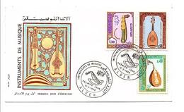 ALGERIE FDC 1968 INSTRUMENTS DE MUSIQUE - Musique