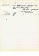 Commentry Manufacture Bandages Lettre Vierge 1920 - France