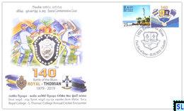 Sri Lanka Stamps 2019, Cricket, Royal, Thomas', Battle Of The Blues, Special Commemorative Cover - Sri Lanka (Ceylon) (1948-...)