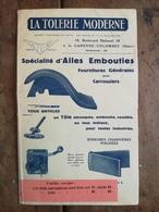 RARE CATALOGUE ANNEES 1925/30. ETS  LA TOLERIE MODERNE A LA GARENNE- COLOMBES.(92) .FOURNITURES POUR CARROSSIERS . - Publicités