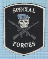RUSSIA / Patch Abzeichen Parche Ecusson / Airborne. Special Forces. Blue Beret . Informal. - Blazoenen (textiel)