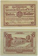 Ennsdorf Bei Amstetten, 1 Schein Notgeld 1920, Ortsansicht Österreich 10 Heller - Oesterreich