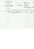 Commentry P Forichon Graines Facture 1921 - France