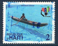 Haïti, Timbre Oblitéré, Pirogue Locale - Haïti