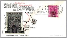 IGLESIA NTRA SEÑORA DE LA O - SANLUCAR DE BARRAMEDA (CADIZ, ANDALUCIA). SPF/FDC Madrid 1967 - Iglesias Y Catedrales