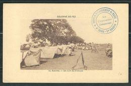 MAROC 1911 CPA Fez En FM Corps De Débarquement Du Maroc - Marcophilie (Lettres)