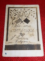 MILITATIA Patriotique -  GORONNE  - VIELSALM  - Hommage Aux Etats Unis D'Amérique Par La Section De Goronne En 1915 - Patriotiques