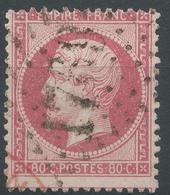 Lot N°46896  Variété/n°24, Obli GC 1769 Le Havre, Seine-Inférieure (74), Amorce De Cachet ROUGE, Trait Blanc Face Au Fro - 1862 Napoleon III