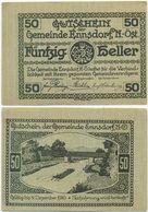 Ennsdorf Bei Amstetten, 1 Schein Notgeld 1920, Floß Donau, Österreich 50 Heller - Oesterreich