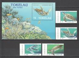 J340 TOKELAU FAUNA SEA TURTLES #223-6 !!! MICHEL 13 EURO !!! 1BL+1SET MNH - Tortues