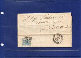 ##(DAN194)-Italy 1866-Piego + Testo, Annullo Numerale A Punti 189 Su Effigie Cent.20 Da Torino A Trinità  Mondovì - 1861-78 Vittorio Emanuele II