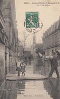 CAEN : Crue De L'Orne 1910- Rue Grusse - Caen