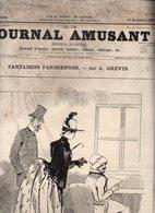Journal Amusant N°1629 Fantaisies Parisiennes Par A. Grévin - Croquis Militaire Par Josias - Sur La Piste Par Henriot - 1850 - 1899