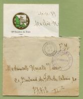 """SECTEUR POSTAL DE NEUFCHATEAU : """" POSTE AUX ARMEES N° 2048 - 613ème Compagnie """"  1939 - Marcophilie (Lettres)"""