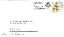 ITALIA - 1979 ROMA L'energia è Preziosa Risparmiatela Ann. A Targhetta Su Lettera Viaggiata - Protezione Dell'Ambiente & Clima