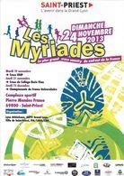 ÉVÉNEMENT  SAINT-PRIEST 69 RHONE SPORT COMPÉTITION LES MYRIADES CROSS-COUNTRY 2013 EDIT. CART'COM DOS PROGRAMME - Evénements