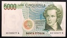 5000 LIRE BELLINI SERIE SOSTITUTIVA XD 1996 Spl/sup NON TRATTATO LOTTO 1946 - [ 2] 1946-… : Repubblica