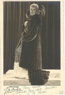 SUPERBE PHOTO DEDICACEE - Artiste Soprano MARIA VAN DER MEIRSCH - Theatre Royal Flamand - TRES RARE - 1952 - Artistes