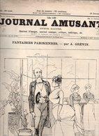 Journal Amusant N°1581 Théâtre De L'opéra-comique Egmont Par MM. Wolf Et Millaud - Trop De Réclames Par Henriot De 1886 - 1850 - 1899