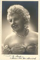 SUPERBE PHOTO DEDICACEE - Artiste Soprano MARIA VAN DER MEIRSCH - Theatre Royal Flamand - TRES RARE - Artiesten