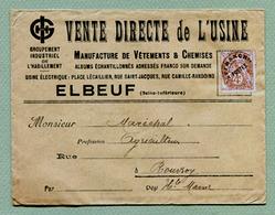 """ELBEUF  (76) : """" MANUFACTURE DE VÊTEMENTS """"  Type BLANC - Préoblitérés"""