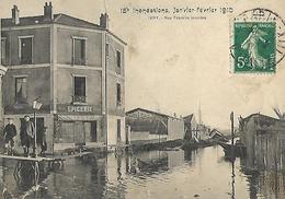 IVRY Innondations De 1910 Commerces épicerie Rue Franklin - Ivry Sur Seine