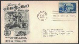 YN285     USA 1953 FDC Honoring The Future Farmers Of America - 1951-1960