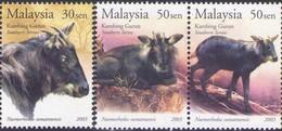 Malaysia 2003 S#910-911 Southern Serow MNH Fauna Goat - Malaysia (1964-...)