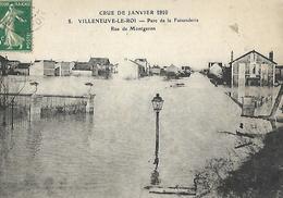 Villeneuve Le Roy  Innondations De 1910 La Faisanderie  Rue Montgeron - Villeneuve Le Roi