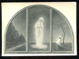 CPSM Non écrite Belgique BANNEUX N. D. Triptyque De La Chapelle Des Apparitions - Sprimont