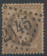 Lot N°46908  Variété/n°30, Obli GC 2145A Lyon-les-Terreaux, Rhone (68), Fond Ligné Horizontal - 1863-1870 Napoleon III With Laurels