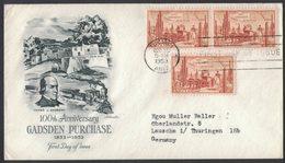 YN286     USA 1953 FDC 100 Anniversary Garden Purchase - 1951-1960