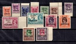 Birmanie Timbres De Service YT N° 1/13 Neufs ** MNH. TB. A Saisir! - Birmanie (...-1947)