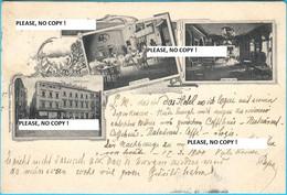 SPALATO - SPLIT ... INTERIOR ... HOTEL TROCCOLI  ( Croatia ) * Travelled 1900.y * By F. Pirolo  RRRRR - Croatia