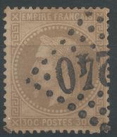Lot N°46909  Variété/n°30, Obli GC, Filet OUEST, Perles NORD OUEST - 1863-1870 Napoleon III With Laurels