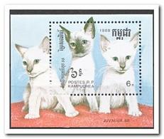 Cambodja 1988, Postfris MNH, Cats - Cambodja