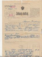 PAYMENT ORDER, AUSTRO-HUNGARIAN OCCUPATION IN BUKOVINA, 1916, AUSTRIA - Autriche
