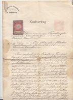 PURCHASE CONTRACT, AUSTRO-HUNGARIAN OCCUPATION IN BUKOVINA, REVENUE STAMP, 1909, AUSTRIA - Autriche