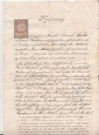 PURCHASE CONTRACT, AUSTRO-HUNGARIAN OCCUPATION IN BUKOVINA, REVENUE STAMP, 1900, AUSTRIA - Austria