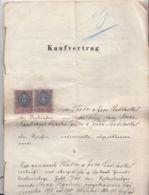 PURCHASE CONTRACT, AUSTRO-HUNGARIAN OCCUPATION IN BUKOVINA, REVENUE STAMP, 1896, AUSTRIA - Autriche