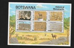 BOTSWANA 1977 Historical Monuments  ** Minisheet (154 X 105mm) - Botswana (1966-...)