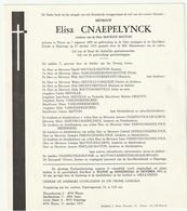 Doodsbrief Elisa CNAEPELYNCK Wed. Maurice Matton Watou 1899 Poperinge 1975 - Décès
