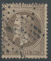 Lot N°46911  Variété/n°30, Obli étoile 4 De PARIS (R. D'Enghein), Fond Ligné Horizontal - 1863-1870 Napoleon III With Laurels