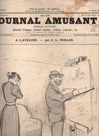 Journal Amusant N°1909 A L'atelier Par J. L. Forain - Ruraux Par Paul Léonnec - Au Régiment Par Josias De 1893 - Journaux - Quotidiens